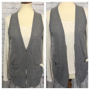 BANANA REPUBLIC ZIP FRONT RACERBACK  SWEATER VEST